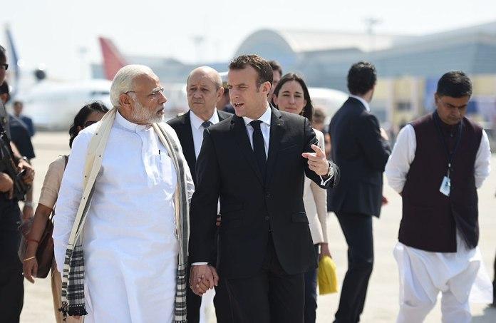 PM Modi receives President Emmanuel Macron