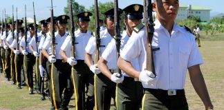 Philippine Army officer parade