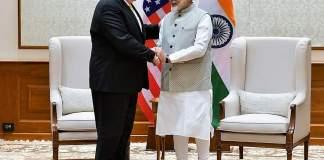 Pompeo meets with PM Modi in New Delhi