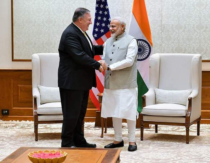 Pompeo meets with PM Modi in New Delhi