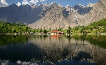 The view of Shangrila, located in Kachura village in Skardu city in Pakistan's northern Gilgit-Baltistan