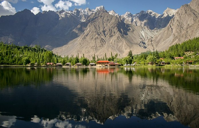 The view of Shangrila, located in Kachura village in Skardu city in Pakistan's northern Gilgit-Baltistan