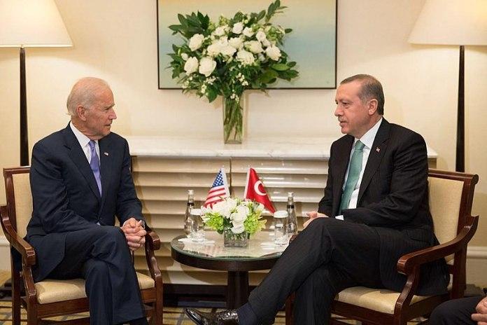Joe Biden and President Erdogan