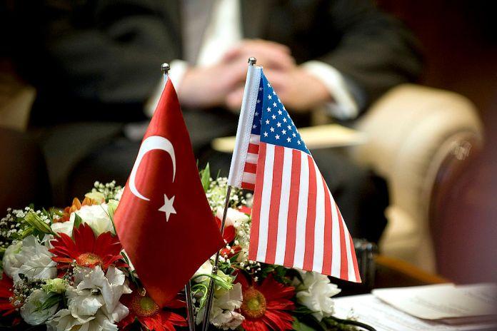 US Turkey flags