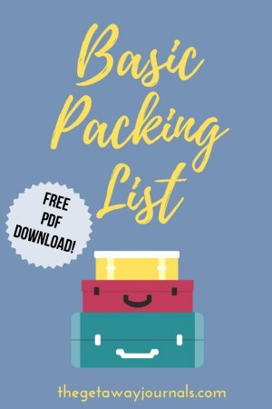 basic packing checklist
