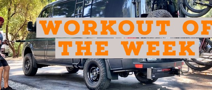 Workout of the Week - Top-heavy Runner by Joe Bauer working out outside of the sprinter van