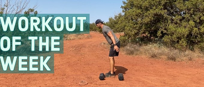 Workout of the Week - Power Buns by Joe Bauer working out in the Sedona desert