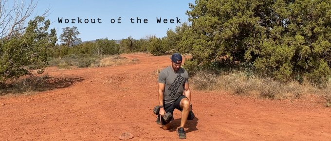 Workout of the Week - Step Down with Joe Bauer doing lunges in the Sedona desert