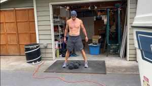 Joe Bauer standing in driveway