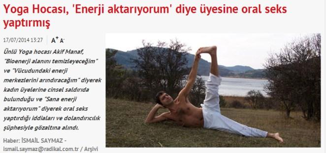 yoga hocası
