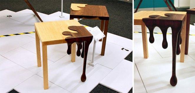 Damlayan Çikolata Masa Tasarımı