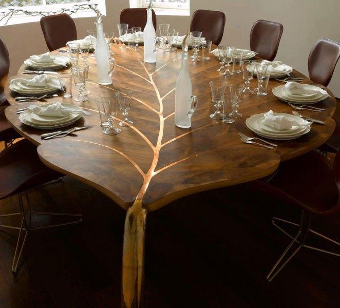 Yaprak masa tasarımı
