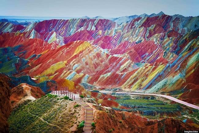 Gök Kuşağı Dağları - Gansu- Çin