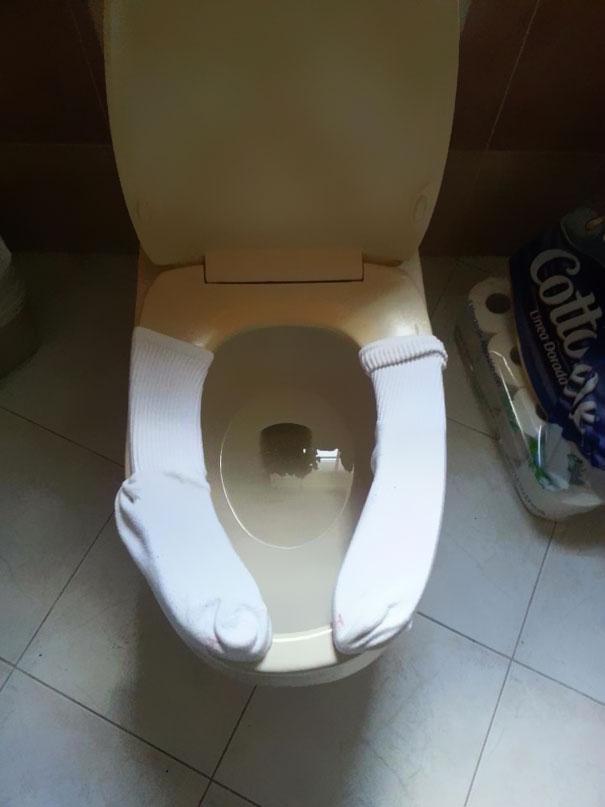 tuvalet sıcak olsun