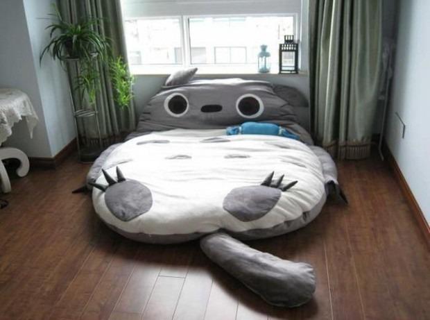 Kedi şeklinde yatak