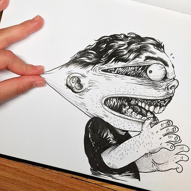 Çizdiği karaktere acı çektiren - Alex Solis-4871