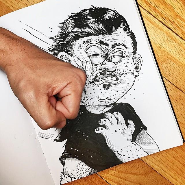Çizdiği karaktere acı çektiren - Alex Solis-54