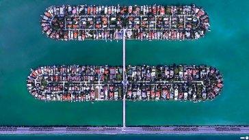 Palm Adası, Hibiscus Adası, Miami Sahili, Florida, ABD