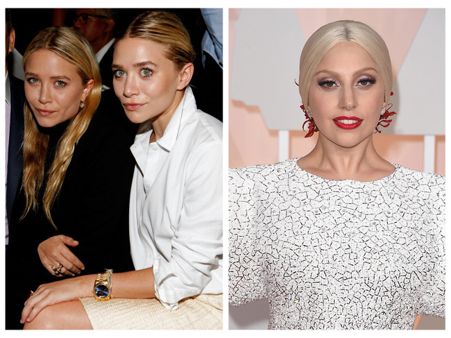 The Olsen Twins and Lady Gaga