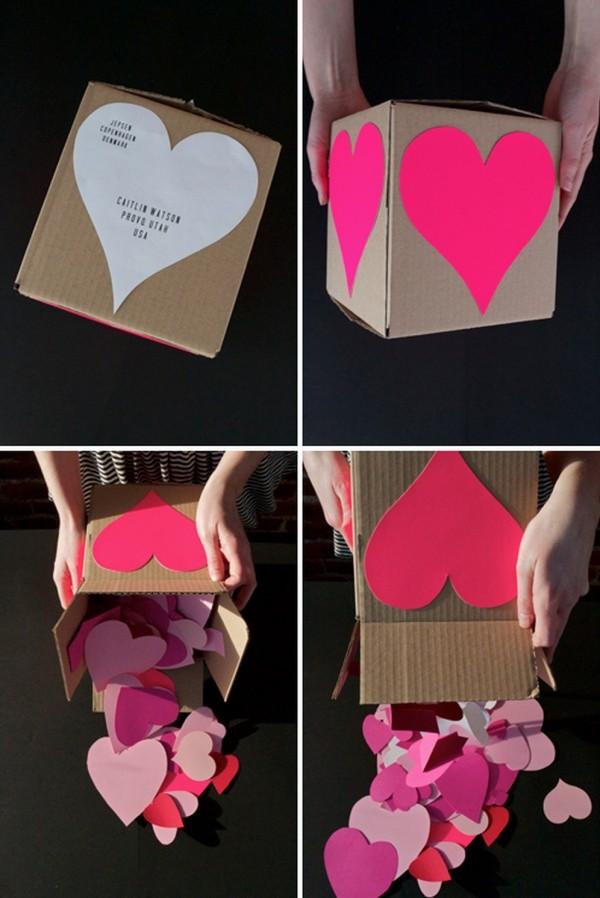 sevgililer günü kendin yap - kalpli kutu