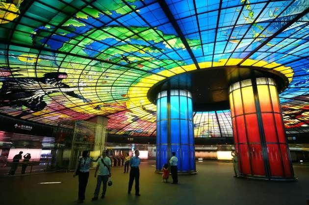 Formosa Boulevard Metro İstasyonu, Kaohsiung, Tayvan