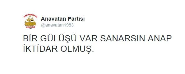 anavatan partisi twitter parodi hesabı