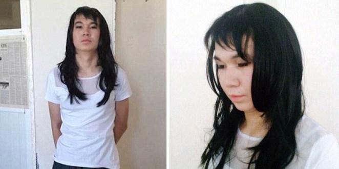 kazakistanda genç sevgilisinin yerine sonava girdi