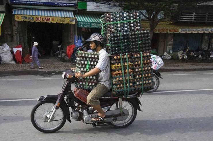 motosiklet yumurta