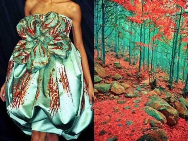 moda ve doğa elbise
