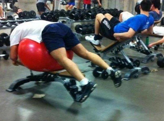 spor salonundan komik insanlar