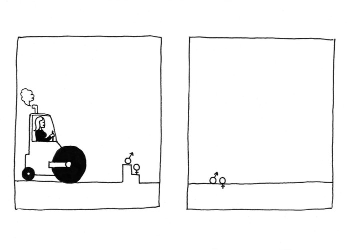 Cinsiyet Eşitsizliğini Gösteren Karikatürler 000