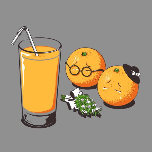 Yiyecek ve içeçekleri canlandıran illüstrasyonlar 3