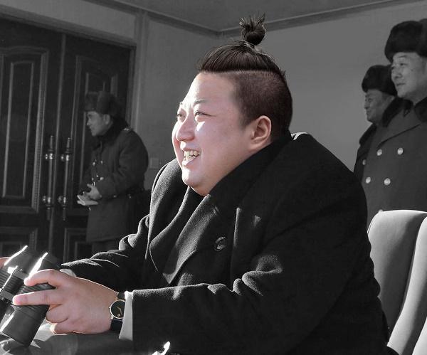 Jong-un topuz saç