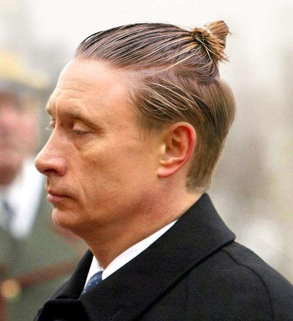 Putin topuz saç