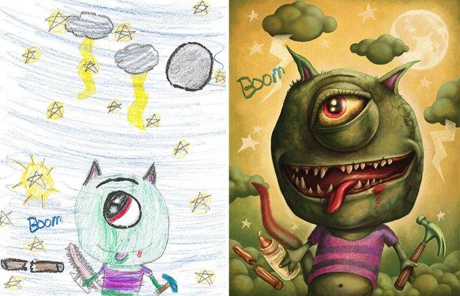 çocuk çizimleri canavarlar 3