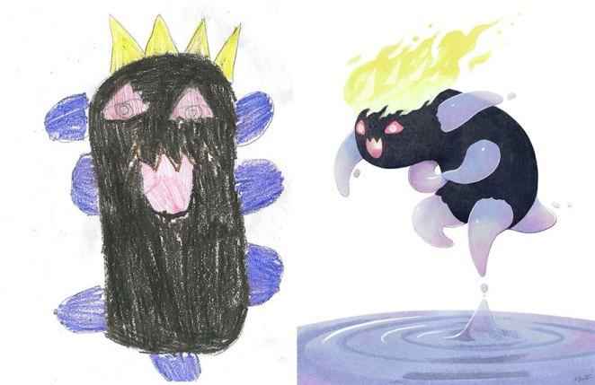 çocuk çizimleri canavarlar yetişkin