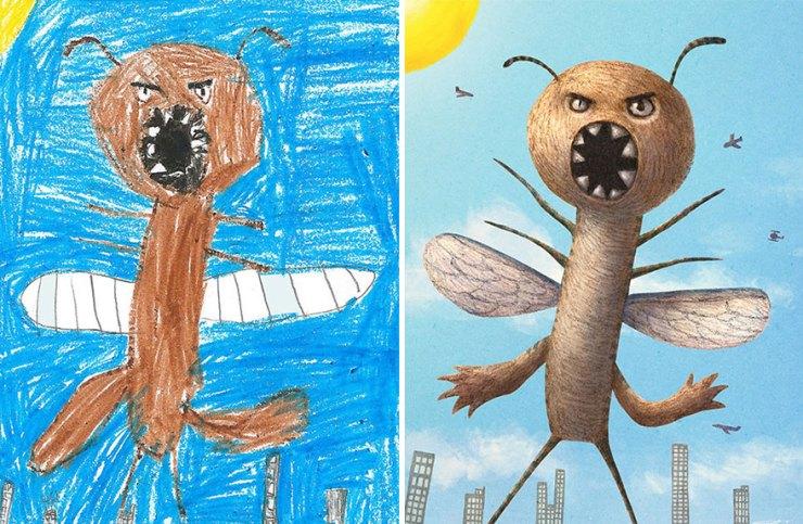 çocuk çizimleri canavarlar