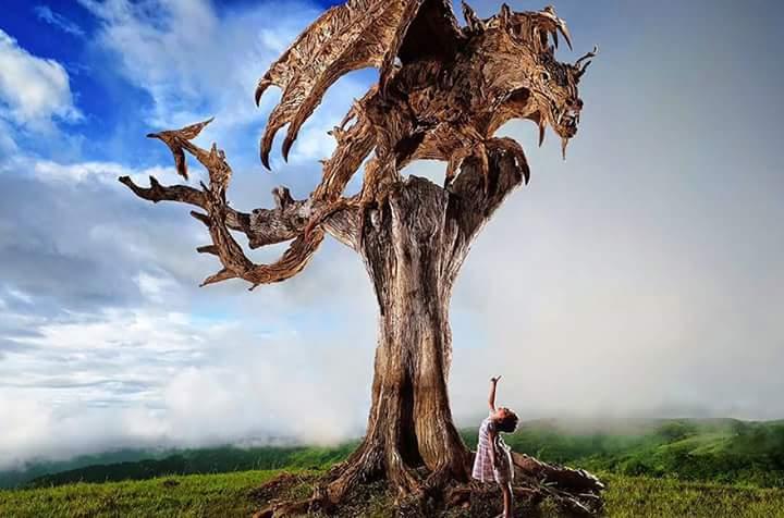 ağaç heykelcisi