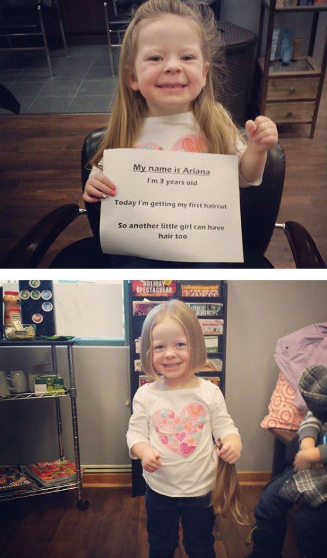 kanser tedavisi gören kıza kendi saçlarını veren minnoş