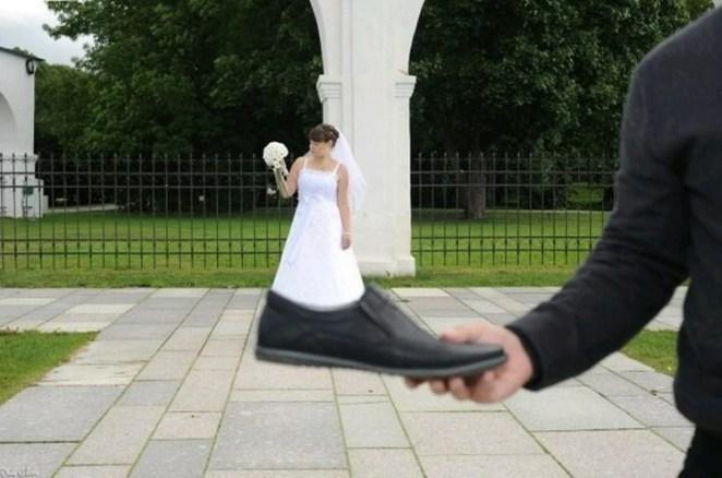 komik düğün fotoğrafları