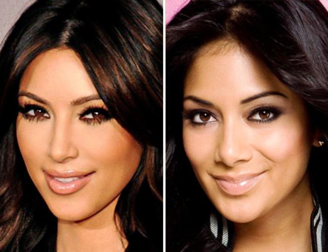 Kim Kardashian and Nicole Scherzinger