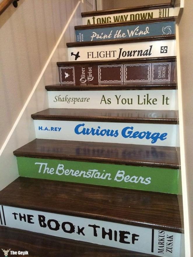 merdivenleri kitap gibi boyamak