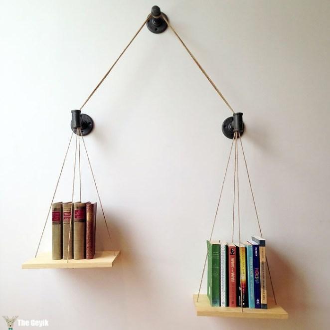 terazi şeklinde kütüphane