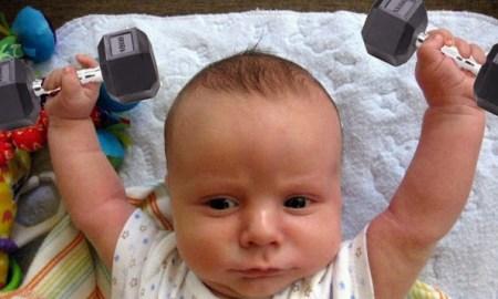 spor yapan bebek
