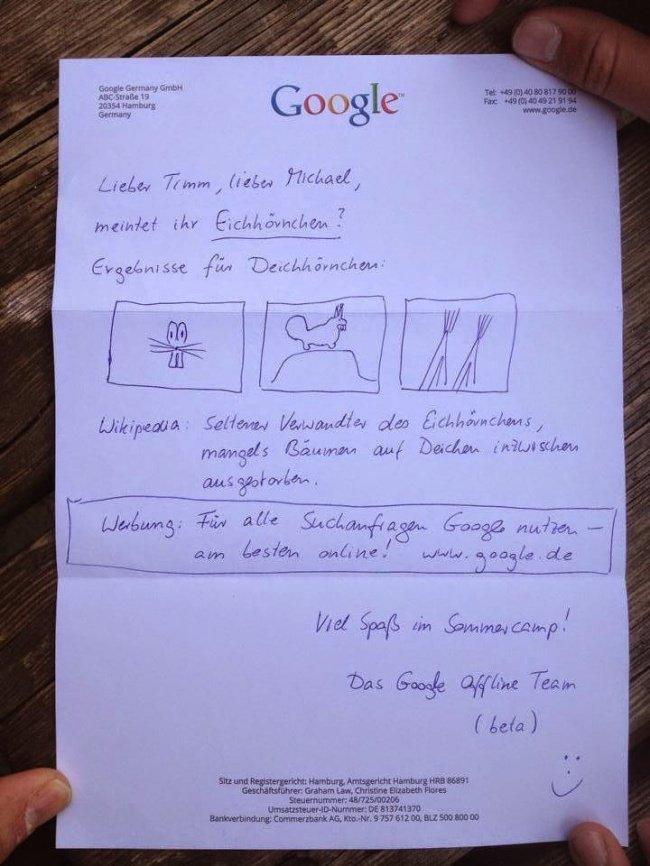 google-mektup-cevap