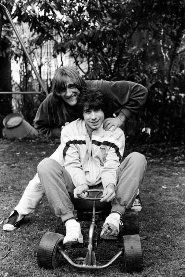 Gérard Depardieu and John Travolta 1982