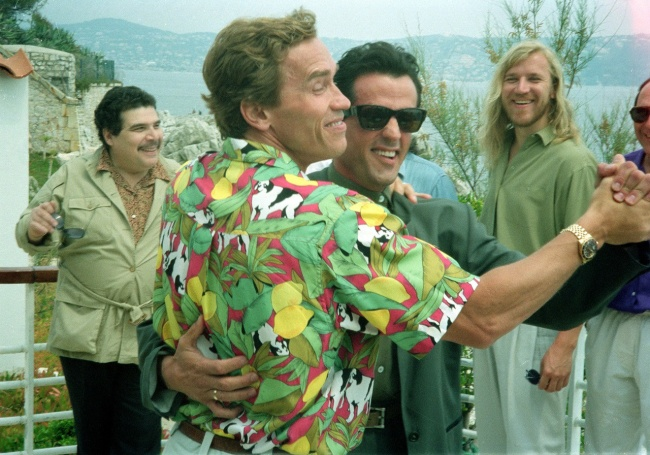 Sylvester Stallone and Arnold Schwarzenegger 1990