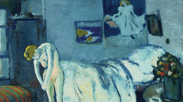 The-Blue-Room-by-Picasso-Reveals-Mysterious-Portrait