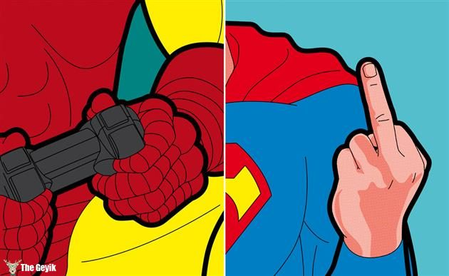 Süper Kahramanların Bize Gösterilmeyen Gizli Hayatı Greg Guillemin 25