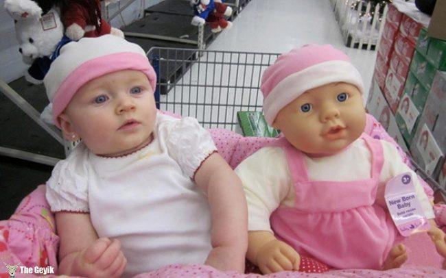 oyuncağına benzeyen bebekler 12